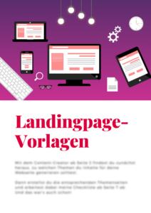 Landingpage Vorlagen